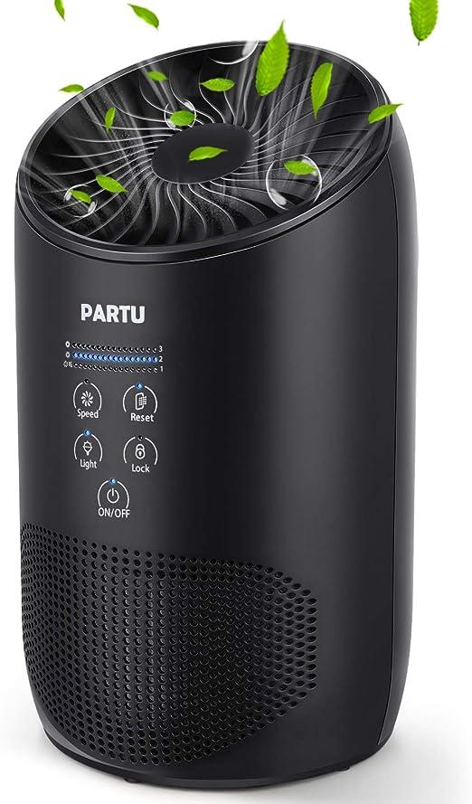 PARTU Purificador de Aire CADR 40 m³ / h, Filtro HEPA hasta 99.7 ...