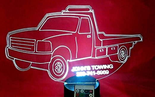 Dump Truck Light Up Lamp LED Personalized Free Engraved Paving Truck With Remote