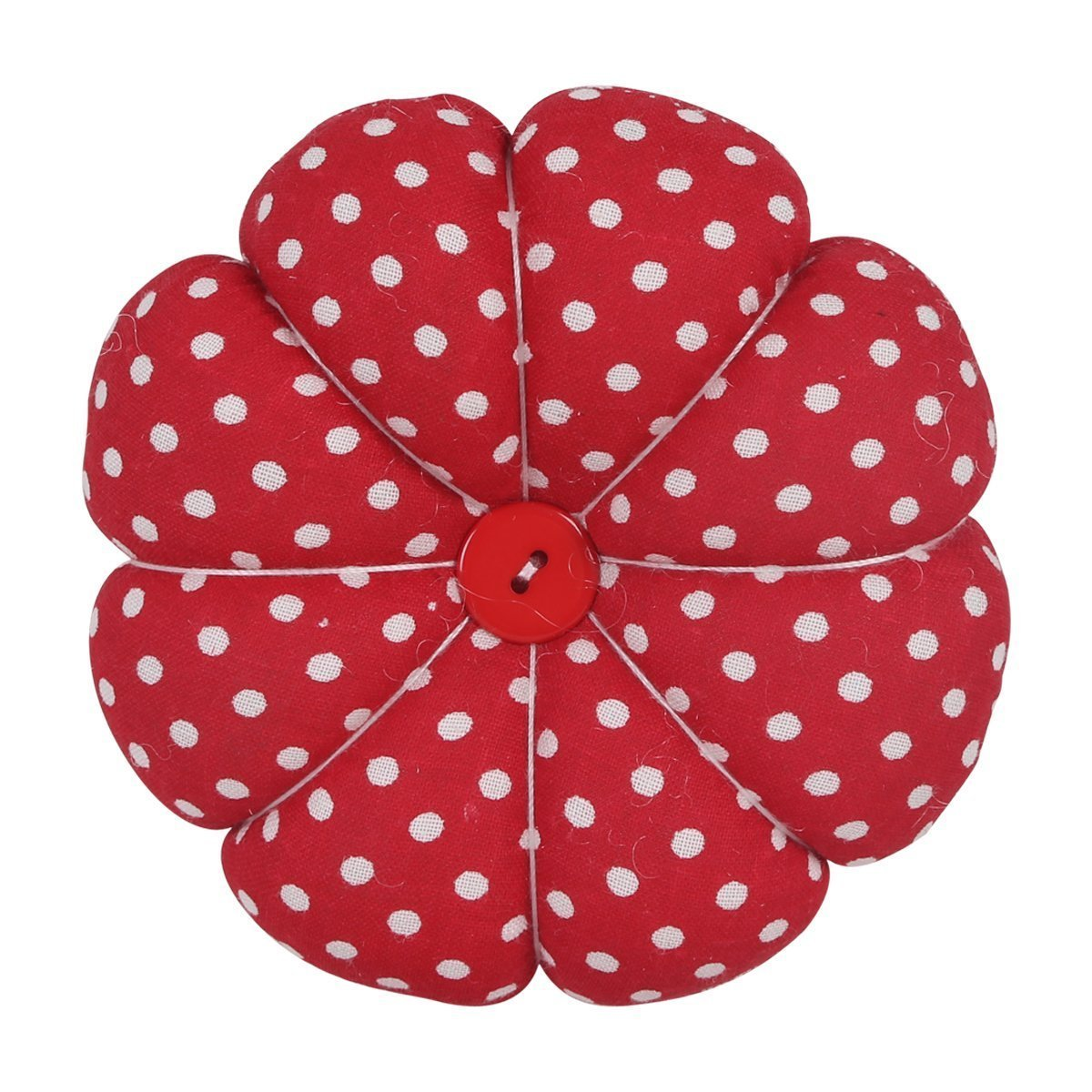 Payviva Handcrafts Pumpkin Pin Cushion Stick Sewing Cute 2 red dot