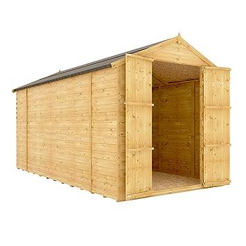 12 x 6 de madera cobertizo de jardín Tongue & Groove loglap 12 mm sin Ventana