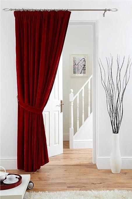Red Velvet Door Curtains Uk | Flisol Home
