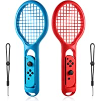 INFURIDER Tennis Racket Controller for Nintendo Switch Game,Hand Grip Game Controller Joy-Con Accessories Compatible for…