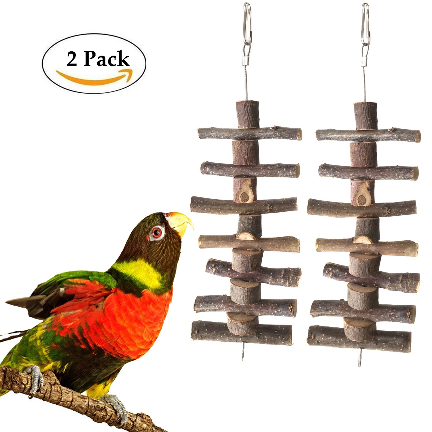 Bwogue Small Animal and Bird Chew Sticks,Natural Apple Branch Chew Toys Teeth Shred Clean Tool (Two piece) by Bwogue (Image #1)
