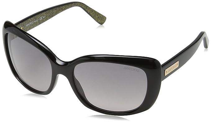 34b589d90e88 Jimmy Choo EL8 Black Kalia Cats Eyes Sunglasses Lens Category 2 ...
