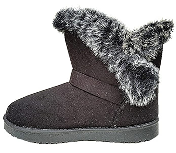 2e17110f8f922 fashionfolie Bottine Femme Fourrure Botte Fourrées Fur Hiver Talon  Chaussure Fille Noir 32305 (37)  Amazon.fr  Chaussures et Sacs