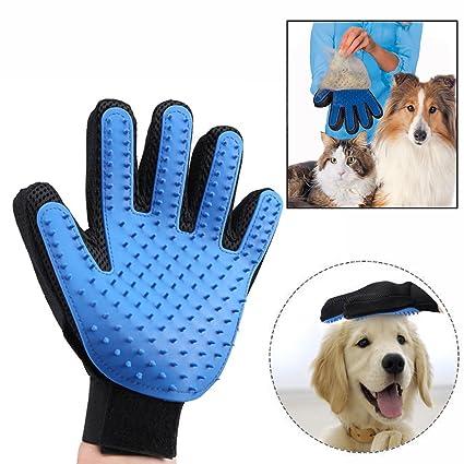 Gearmax Guantes Manopla Masaje para mascotas perros gatos,etiro del pelo y Aparato de masaje