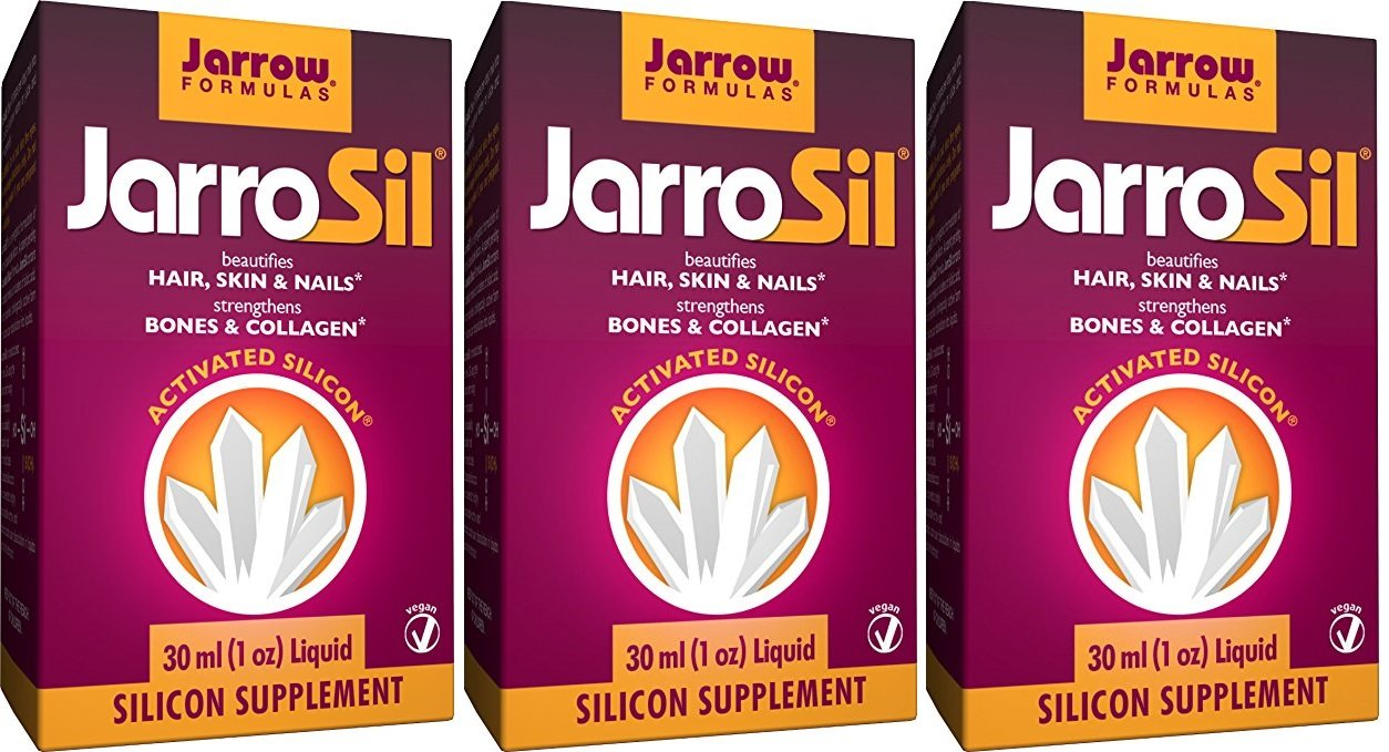 Jarrow Formulas JarroSil, Beautifies Hair, Skin & Nails, Activated Silicon, 4 mg/10 drops (Pack of 3)