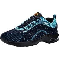 DYKHMATE Zapatillas de Seguridad Mujer Hombre Ligero Colchón de Aire Zapatos de Seguridad Trabajo Transpirable Punta de…