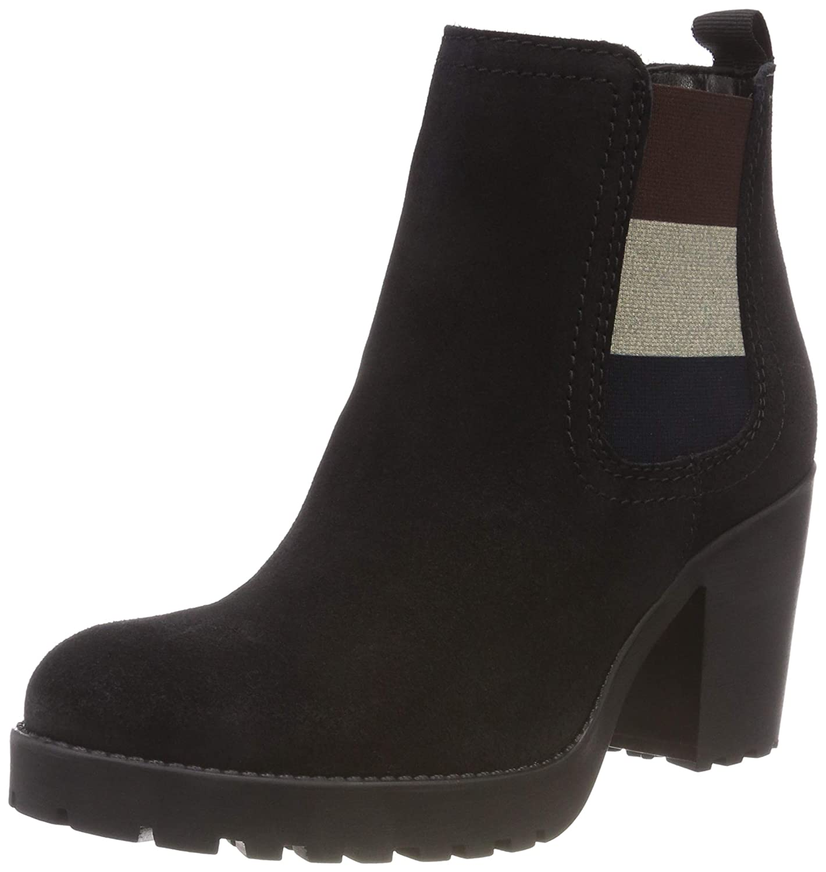 Hilfiger Denim Damen Essential Mid Heel Chelsea Stiefel