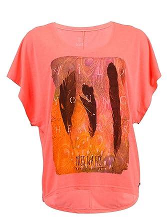 7f107a8d3412 Watts T-Shirt Manches Courtes Femme Patta Rose Fluo  Amazon.fr ...