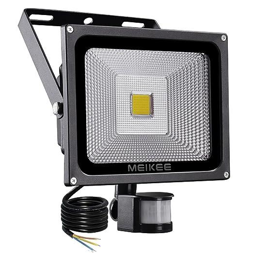 MEIKEE 30w Foco LED con Sensor Movimiento de 3000LM, Proyector LED exterior 6000K con detector PIR de IP66 (resistente al agua), Iluminación de ...