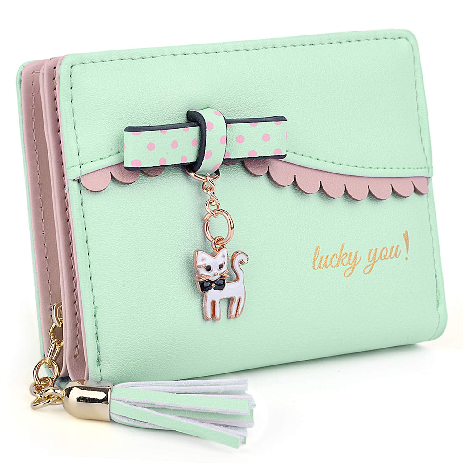 CDM product UTO Women's Wallet PU Leather Card Holder Organizer Girls Small Cute Coin Purse big image