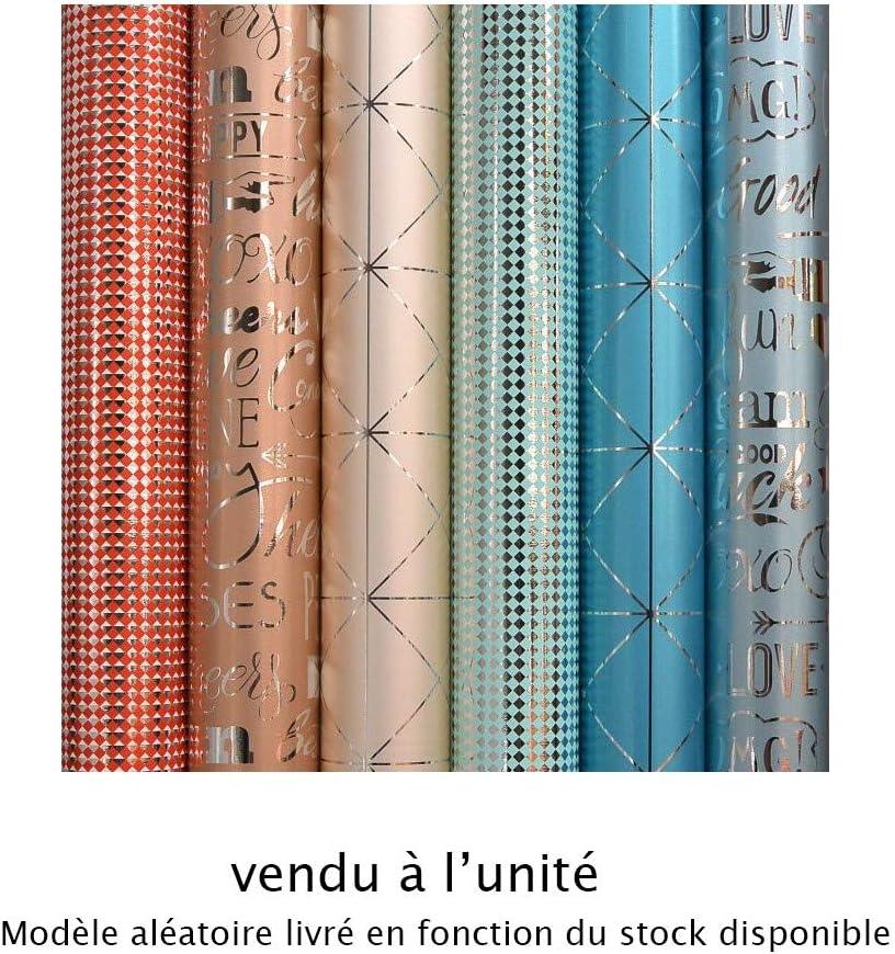 G/én/érique Papier Cadeau /ÉCLAT M/ÉTAL 74GR//M/² 70CMX1,5M