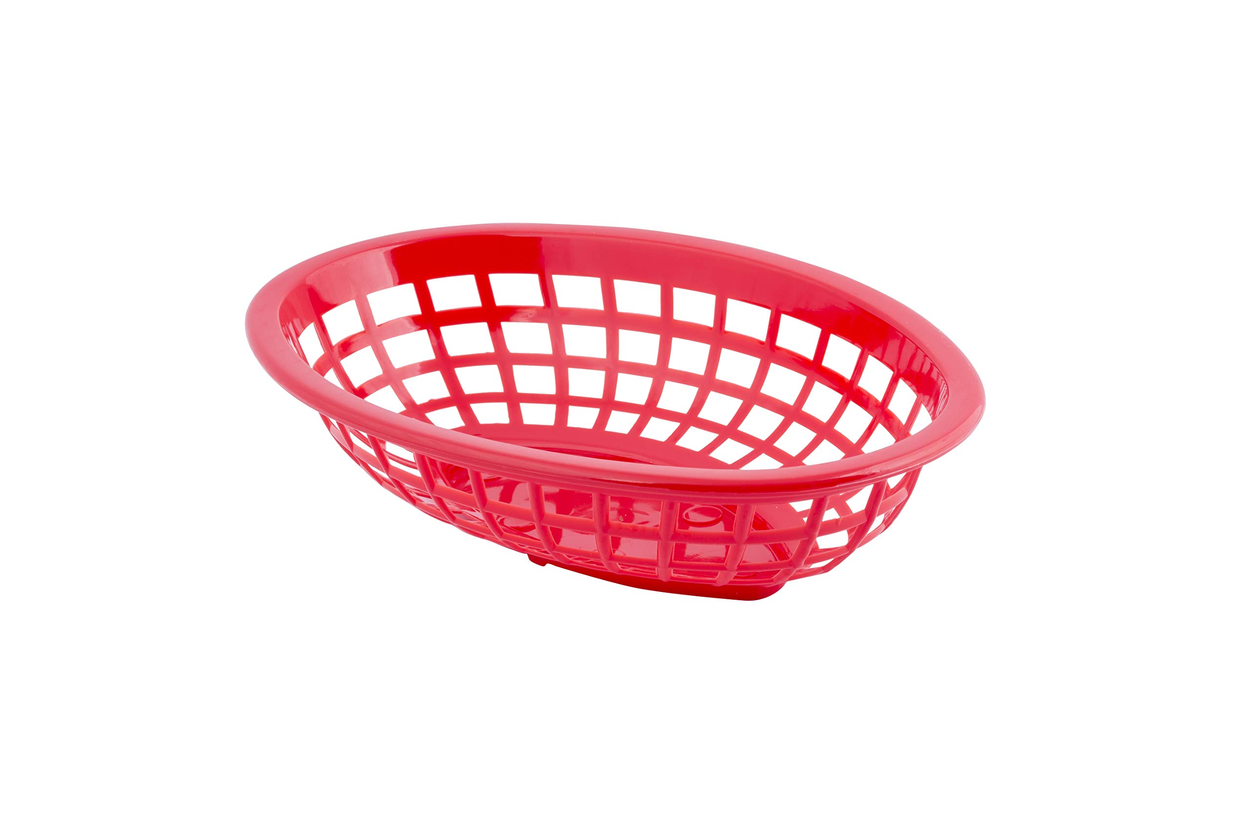 Tablecraft Red Small Oval Basket - 36 per case