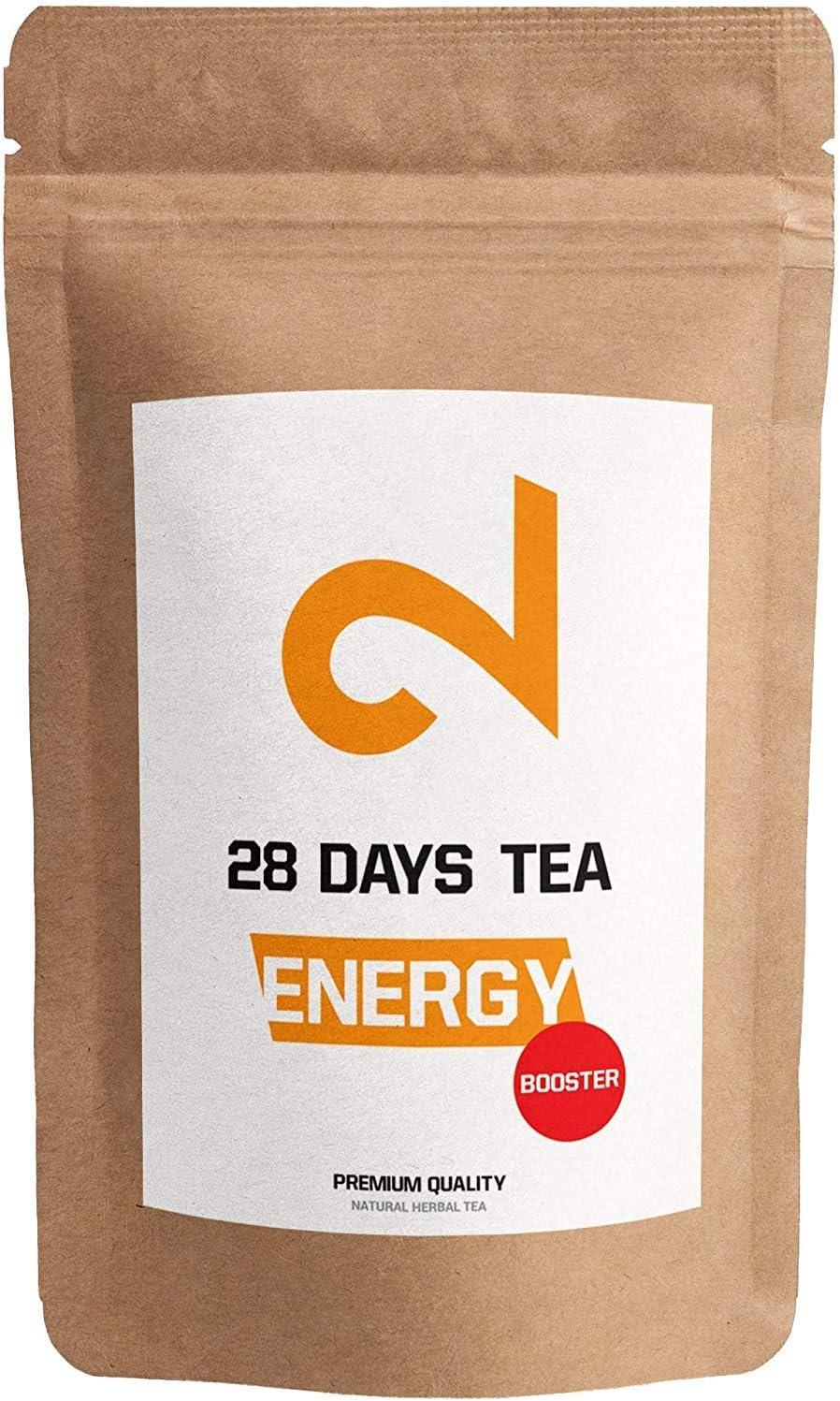 DUAL Energy - T� Booster da 28 giorni| 100% naturale| 125g di t� in foglia sfusa| Rinfrescante e piccante| Senza additivi| Senza zucchero| Senza zucchero| Vitamina arricchita|Vegan| Certificato in lab