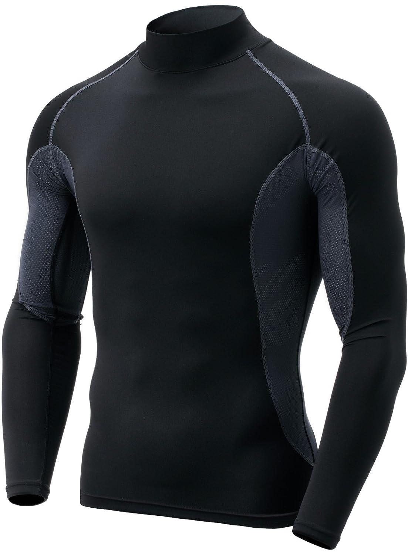 (テスラ)TESLA 長袖 ハイネック スポーツシャツ [UVカット吸汗速乾] コンプレッションウェア パワーストレッチ アンダーウェア T11 / MUT72 B075ZYTZDC X-Large|CQ-TUT102-BLK CQ-TUT102-BLK X-Large