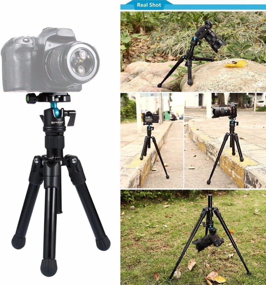 3kg PULUZ Pocket Mini Microspur Photos Magnesium Alloy Tripod Mount with 360 Degree Ball Head for DSLR /& Digital Camera Load Max 24.5-57cm Adjustable Height