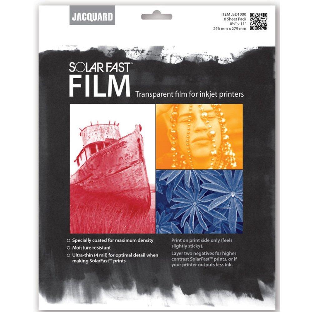 Jacquard Solarfast Dye Film 8.5 X 11 8/Pkg by Jacquard