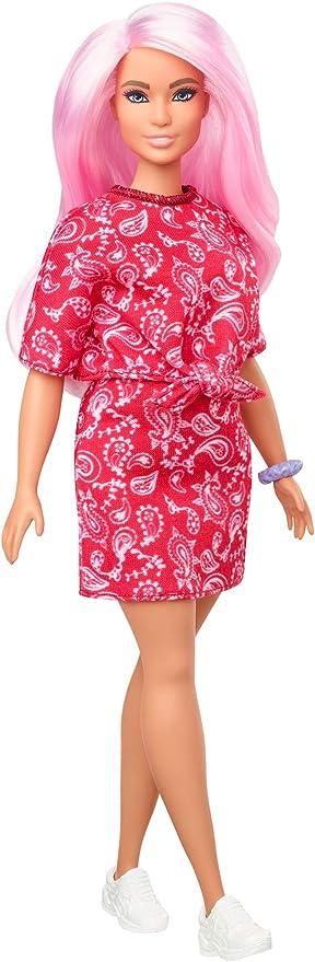 Barbie Fashionistas Fashion Doll 13 Blonde Cheveux Longs Néon Polka Dot Dress 2015
