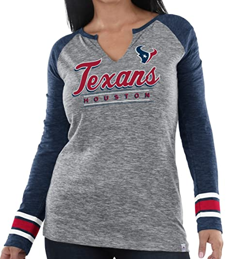 low priced 7e577 d6336 Amazon.com : Majestic Houston Texans Women's NFL Lead Play 3 ...