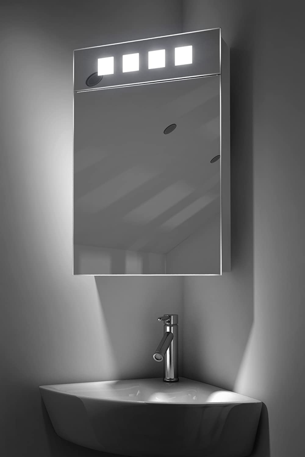Diamond X Collection Alita Corner Cabinet Mirror With Shaver Socket And Sensor k145 Amazon.co.uk Kitchen u0026 Home & Diamond X Collection Alita Corner Cabinet Mirror With Shaver Socket ...