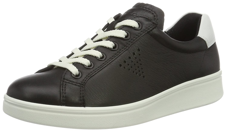 Ecco Soft 4, Zapatos de Cordones Derby para Mujer 38 EU Schwarz (50669black/White)