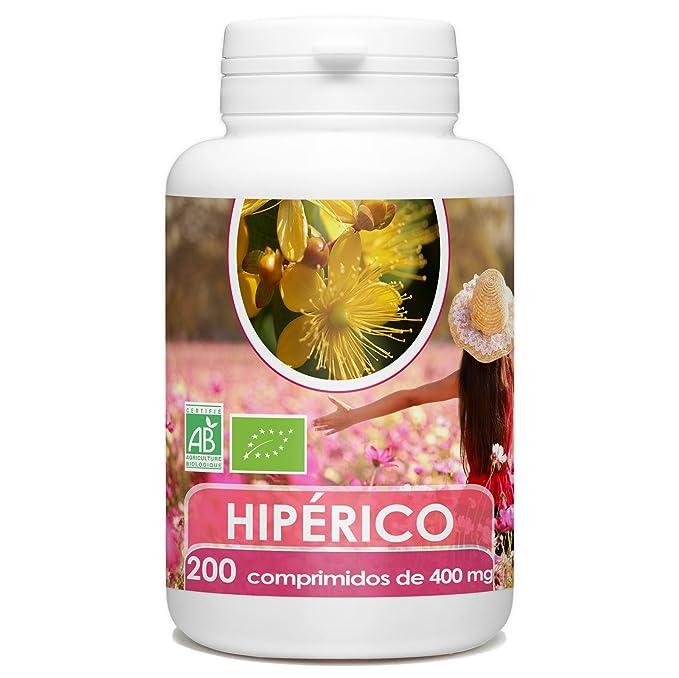 Hipericum organica - 200 tabletas de 400 mg