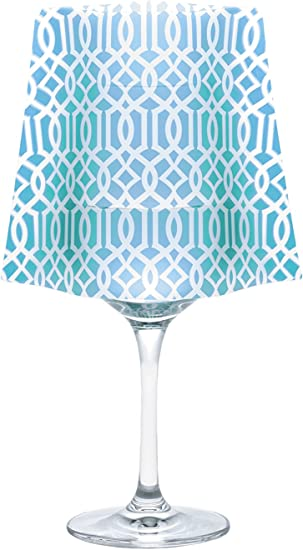 MODGY Frosted Wine Glass Shades-Includes Floating Candle with Batteries Vero