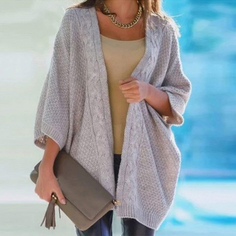 Warm Winter Sweater Women Cardigan Casual Knitting Long Cardigan Female Loose Kimono Cardigan Knitted at Amazon Womens Clothing store: