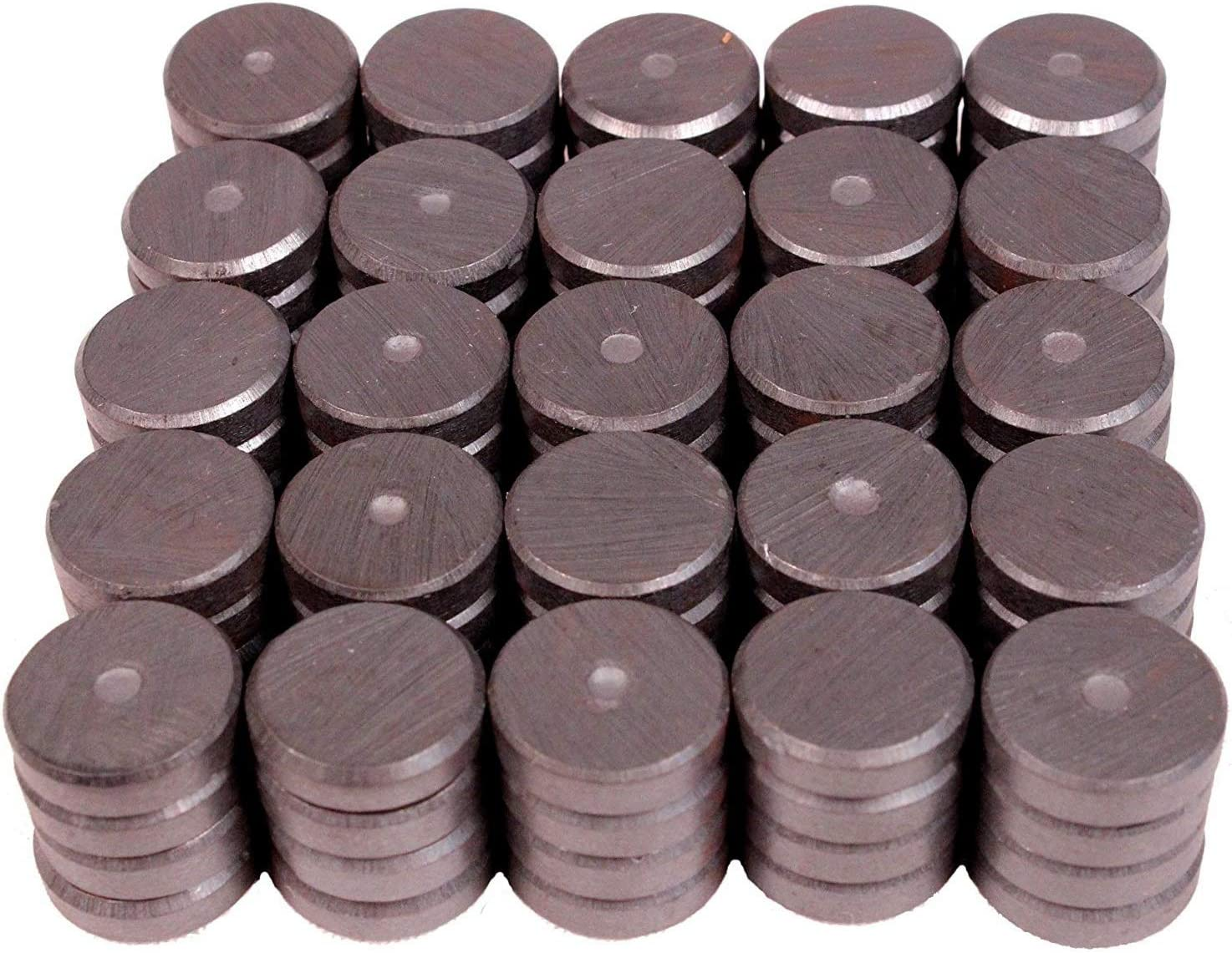 Ferrite Magnets Bulk for Crafts Science /& Hobbies Creative Hobbies Industrial Ceramic Circle Magnets 11//16 Inch Flat 100 pcs//Box! Refrigerator or Whiteboard 3//16 Thick 18mm Round Disc