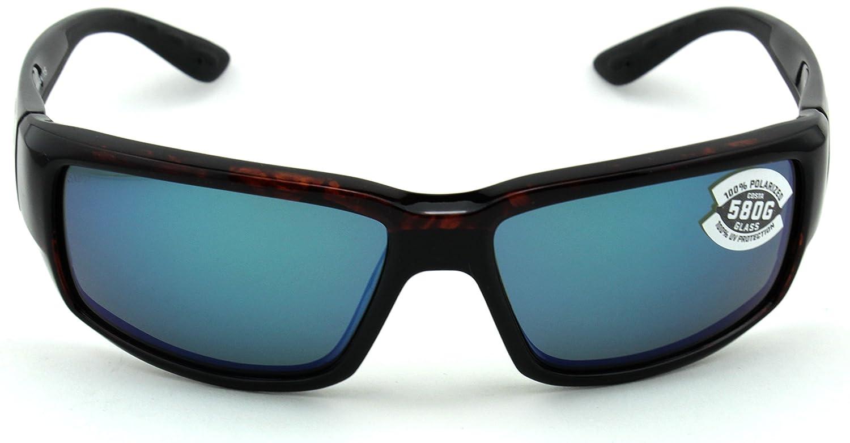 a2e5a189b772f Amazon.com  Costa Del Mar Fantail 580G Tortoise Frame  Blue Mirror Lens ( TF10 OBMGLP)  Clothing