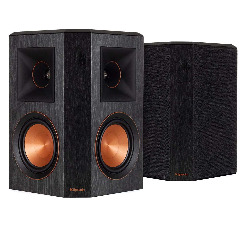 Klipsch RP-502S Surround Sound Speakers (Pair) (Ebony) (Renewed) by Klipsch