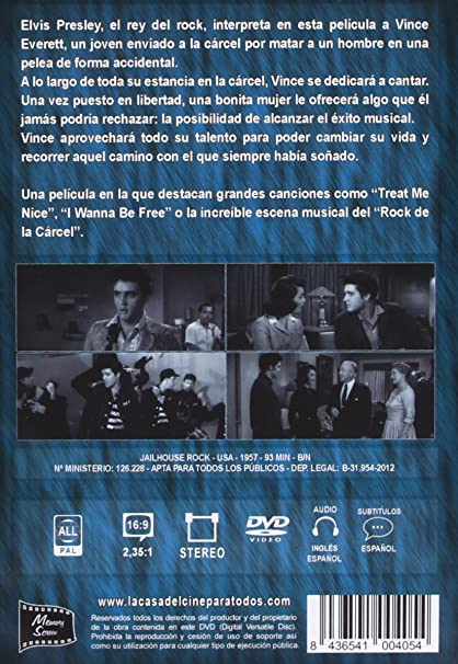 El Rock De La Cárcel [DVD]: Amazon.es: Elvis Presley, Judy Tyler, Mickey Shaughnessy, Richard Thorpe, Pandro S. Berman: Cine y Series TV
