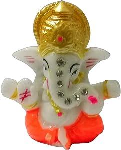 Sahishnu Online And Marketing Idol Ganesha Statue for Home Decor/Car Decor,Mini Lord Ganesh,Hindu God of Success, 2.5 Inches