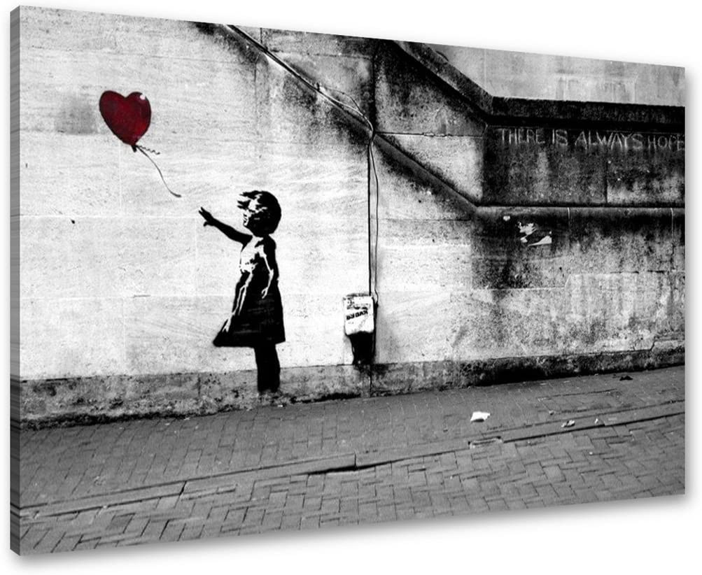 Visario Cuadros en Lienzo Banksy 80 x 60 cm Nr. 4165 Cuadro Abstracto