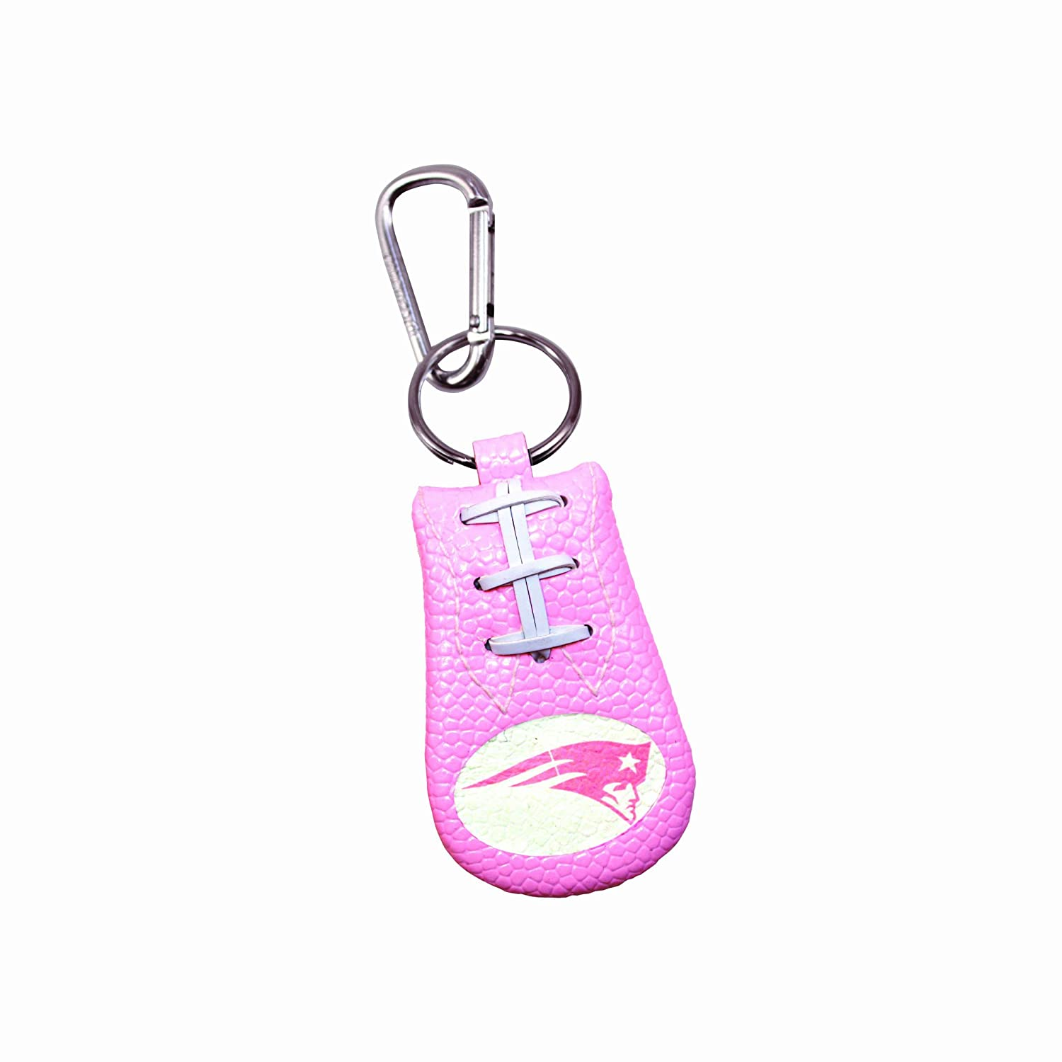 New England Patriots Pink NFL Football Keychain