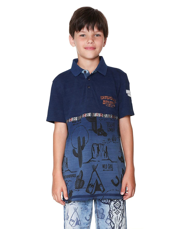 Desigual Boys Polo Marino Sizes 4-14