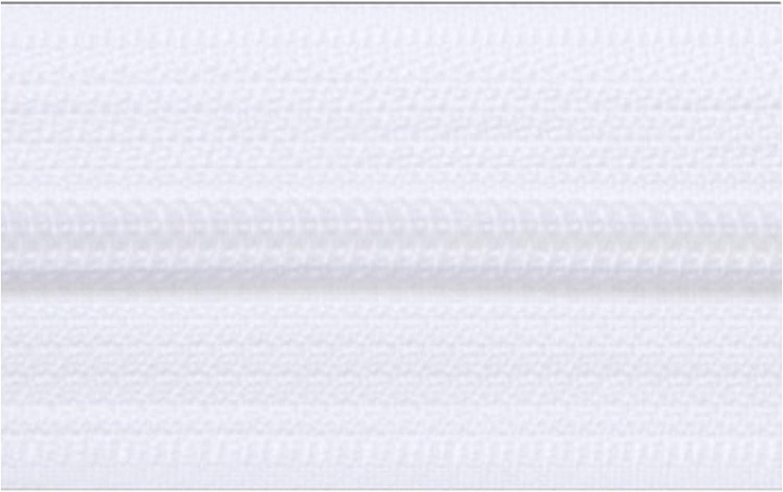 Kacperek 20m EndLos Rei/ßverschluss 6mm Laufschiene 20 Zipper Weiss