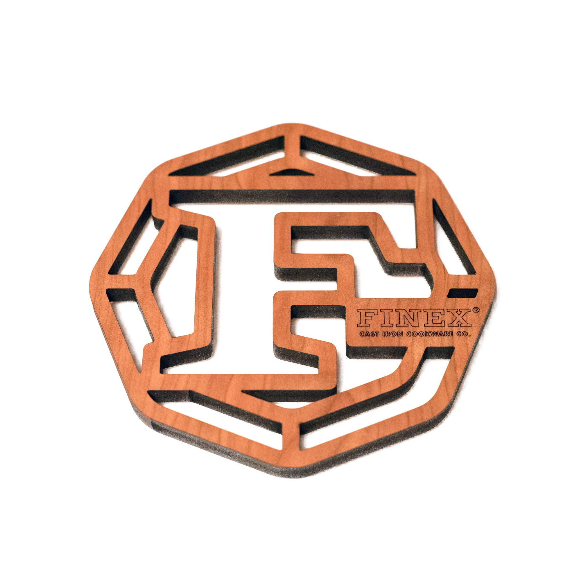 FINEX - Laser Cut Cherry Wood Trivet, Crafted in the USA by FINEX