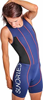 Sundried Damen Gepolsterter Prämium Triathlon Trisuit Kompression Duathlon Laufen Schwimmen Fahrradfahren Skinsuit Tri Anzug