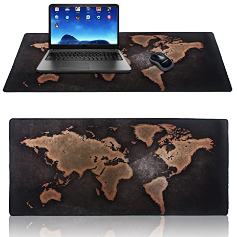 Amazon extended gaming mouse mat pad xxl large portable extended gaming mouse mat pad xxl largeportable large desk pad vintage world map gumiabroncs Image collections