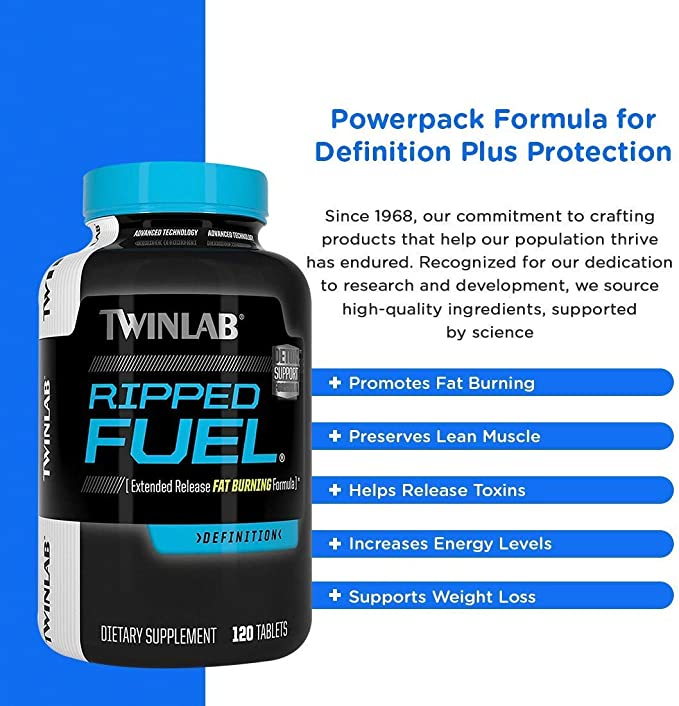 Amazon.com: TWINLAB Ripped Fuel Weight Loss Tablets, 120 Count ...