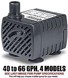 PonicsPump PP04005: Submersible Pump, 40 GPH, 120
