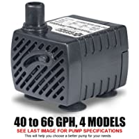 Amazon best sellers best indoor fountain pumps ponicspump pp04005 submersible pump 40 gph 120 volts ac 5 foot cord workwithnaturefo