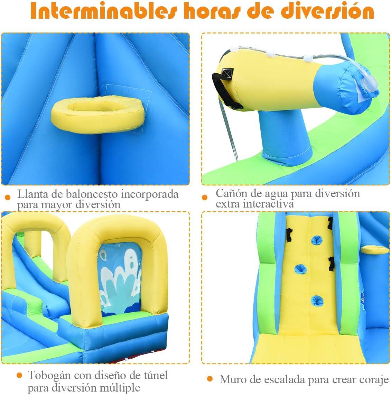 COSTWAY Castillo Hinchable para Ni/ños con Tobog/án Acu/ático 478x 366x242cent/ímetros Infantil Castillo Inflable Sin Soplador