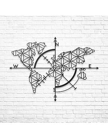 /Mural Silhouette D/écoration Murale en m/étal Home Office D/écoration Chambre /à Coucher Salle de s/éjour D/écoration 17 /Motif Mandala/ DEKADRON D/écoration Murale en m/étal/