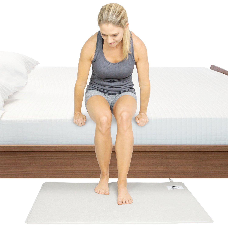 Vive Wireless Floor Alarm Mat - Fall Sensor Kit for Elderly, Seniors, Dementia Patients - Health Safety Weight Movement Pressure Pad Detector - Nurse, ...