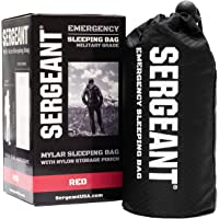 SERGEANT Emergency Sleeping Bag, Extra-Thick, Lightweight, Military Grade. Use as Emergency Bivy Sack, Survival Sleeping…