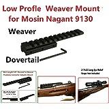 GOTICAL Low Profile Mosin Nagant 91/30 Scope Mount Weaver Picatinny Rail Mid Length