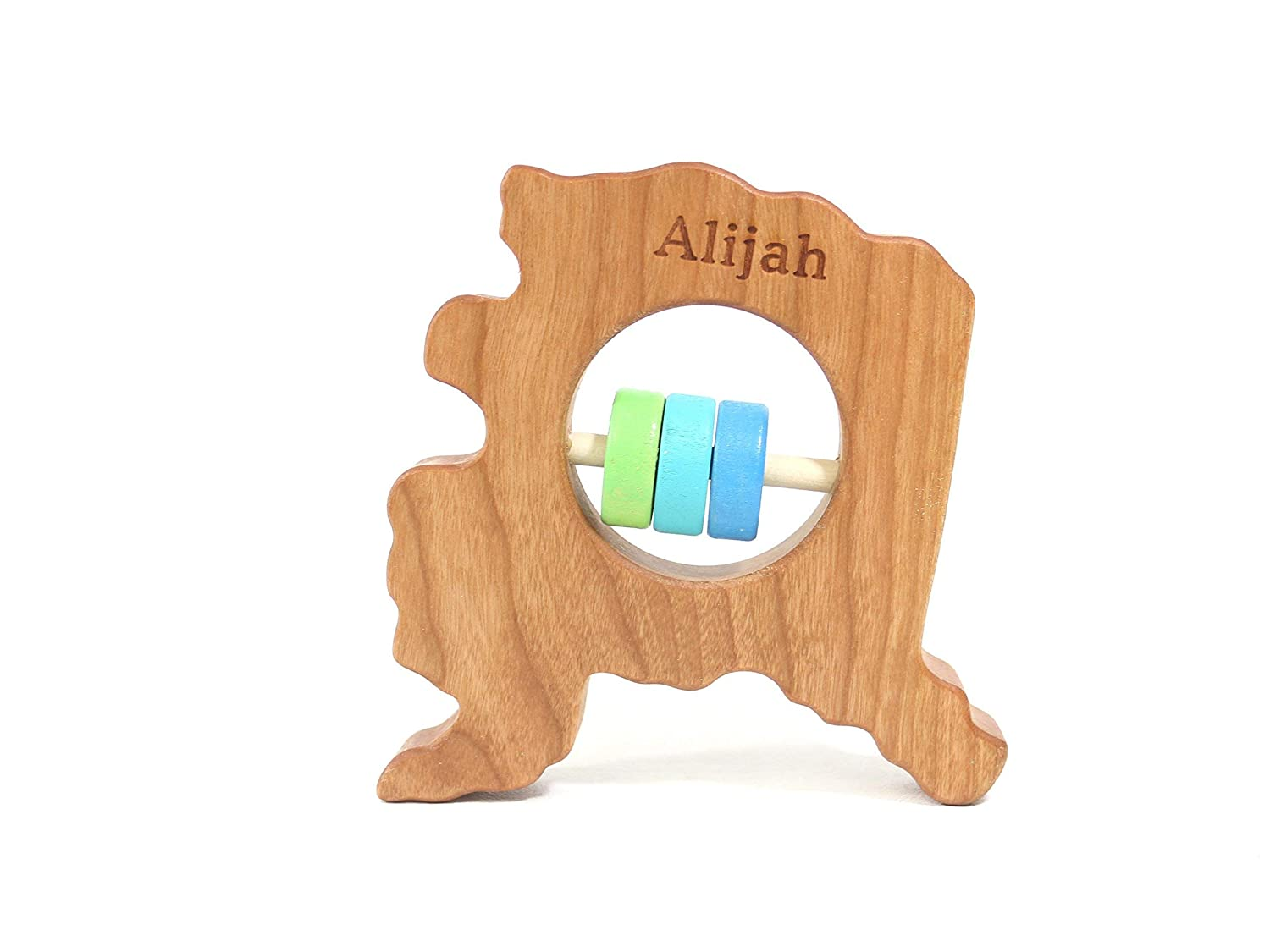 Alaska State Wooden Baby Rattle ™
